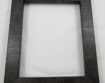 8x10 Curly Maple Dark Walnut dye Picture Frame