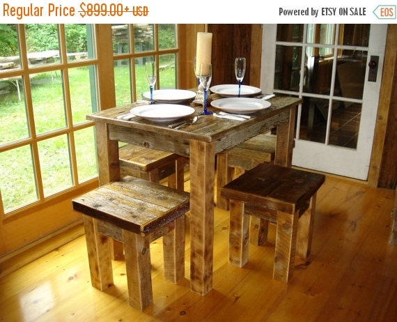Driftwood dining room set 48x48x 30 or 36h by for Dining room table 36 x 48