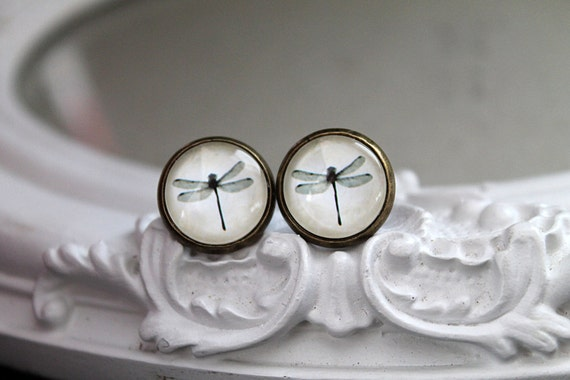 Pretty dragonfly  clip earrings sweet lolita feminine