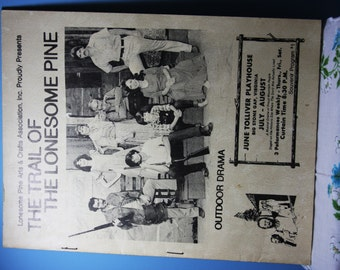 The Trail of The Lonesome Pine Outdoor Drama 16th Season Program Book 24 pages Big Stone Gap VA