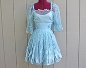Lace Fantasy Dress in Ice Blue