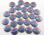 Vintage Silver Pepsi Cola Bottle Caps Set of 25