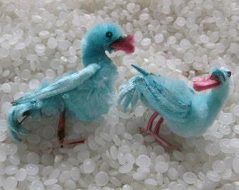Vintage 30s-40s Pipe Cleaner Birds  Vintage Japan Chenille Pipe Cleaner Bird