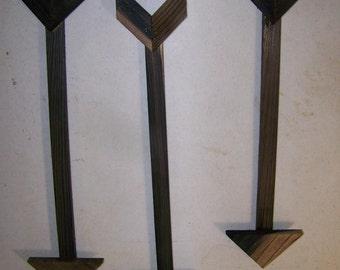 3 Wooden Arrow Distressed Wood Arrow. Decorative Arrow.