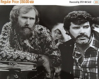 ON SALE 1986 Labyrinth Press Photograph, Jim Henson Director & George Lucas, Executive Producers, Tri Star Pictures