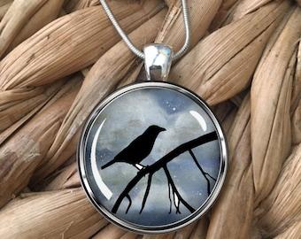 Bird Silhouette Pendant Necklace