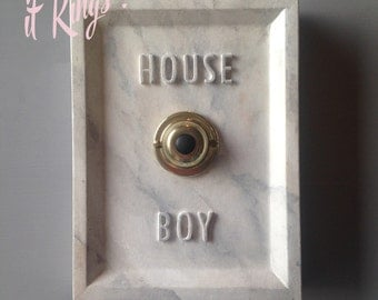 House Boy Service Button ( ringing version ) Carrera marble finished concrete