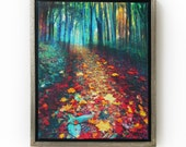 Where leaves gather, 18x22 Framed, tree art, #nature photography, autumn leaves, Signore, Art, hiking trails