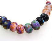 Handmade Lampwork Beads - Color Fix! 5 pairs. Color splashed assortment. Great for earrings.