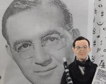Benny Goodman Swing Music Big Band Clarinet Player Miniature Art Doll