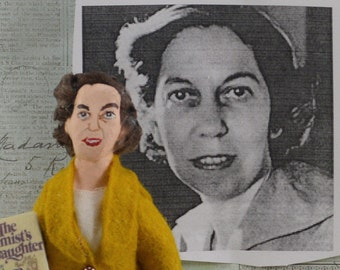 Eudora Welty Doll Miniature Writer Art Collectible