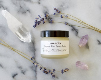 Lavender Organic Shea Butter Balm - Rich, Buttery Moisture for Dry Skin - Organic 2 oz - Seen in Etsy Finds: Eye For Taste