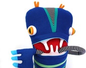 """Plush Big Monster """"Bobo"""" Cotton Monster with Pocket Mouth"""