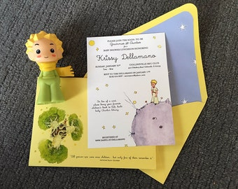 Full Color Flat Printed Invitations with Letterpress Accents