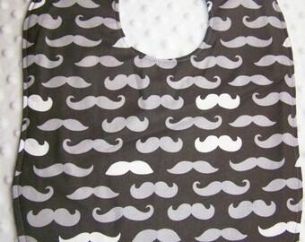 FREE SHIPPING Mustache Large Toddler Baby Bib