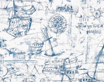 Schooner Navy Fabric by the yard