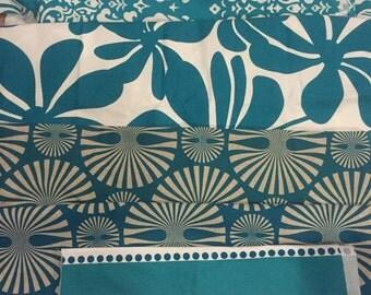 Premier Print Coordinating Turquoise Large  Fabric Scraps