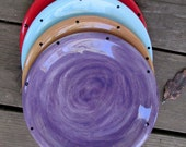 Custom colors 8 inch pottery dessert plates choose your colors cake toast snack wedding tableware pottery dinnerware small plate rustic home