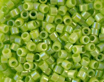 Opaque Chartreuse AB Miyuki Delica Seed Bead 11/0 7.2G Tube DB169-TB