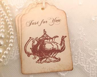 Tea Pot Tags Teapot Gift Tags Tea Party