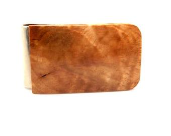 Handmade Wood Money Clip Eucalyptus Burl Wood