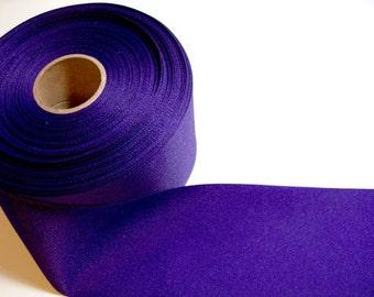 Wide Purple Ribbon, Purple Grosgrain Ribbon 3 inches wide x 3 yards
