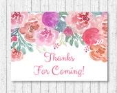 Pink Floral Party Favor T...