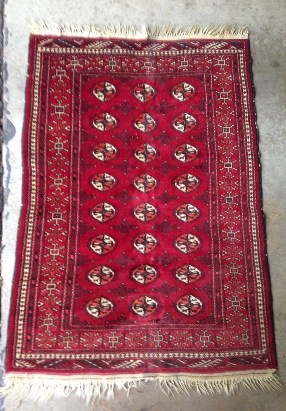 Hand Woven Antique Bokhara Rug or Carpet