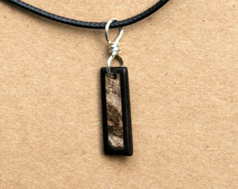 Ebony and Spalted Maple Wood Pendant J160512