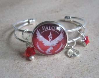 Pokemon GO Team Valor Charm Bracelet