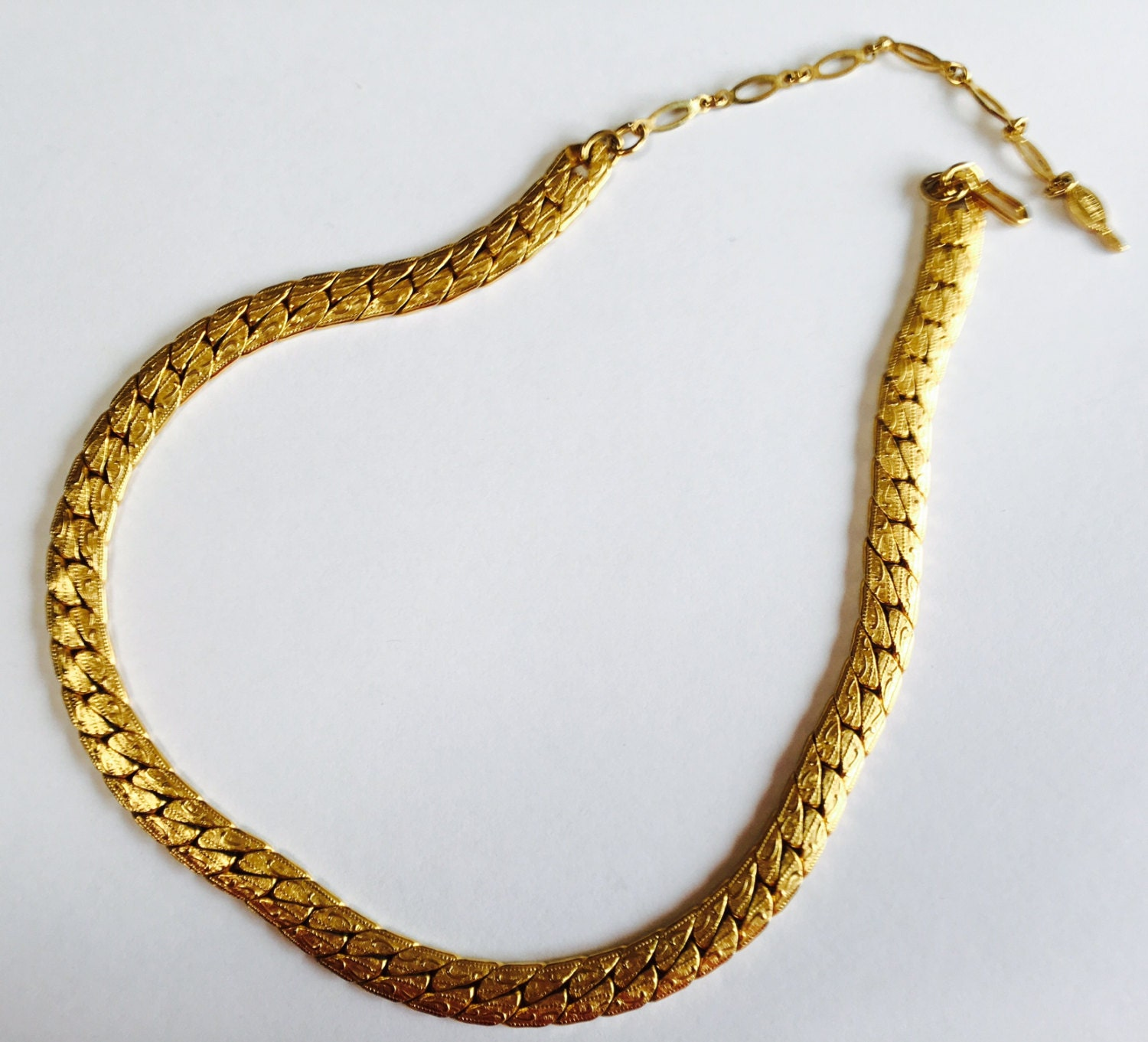 sarah coventry necklace herringbone gold by