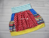 Back To School Skirt - Knit Waist Bubble Skirt with Pockets - Made to Order