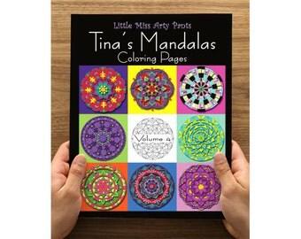 Mandala Coloring Book - Printed Coloring Pages in Folder -  Volume 4