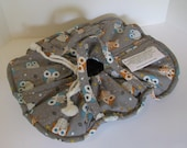 Casserole Carrier / 9 X 13 / Large / Owls on Gray /  Insulated / Hot or Cold Foods / Bridal Gift / Mothers Day / Housewarming