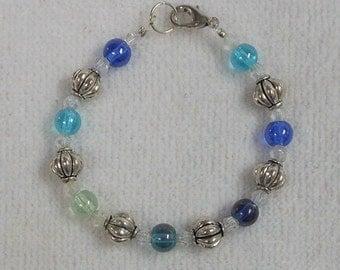 Girls Bracelet - Beaded Bracelet - Childs Bracelet - Beaded Bracelet For Girls - Blue - Childrens Jewelry