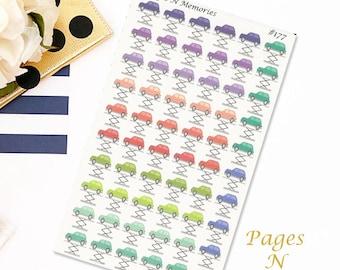 Car Repair Planner Stickers/ Car Maintenance Planner Stickers/ Functional Stickers/  Plum Paper Colors/  Erin Condren/Personal Planners #177