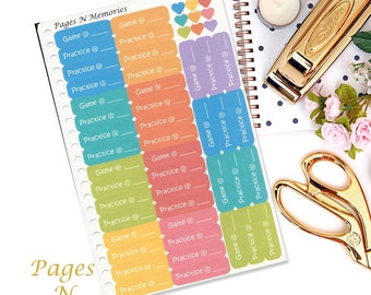Game and Practice Planner Stickers/ Sports Planner Stickers/ Functional Stickers/ Erin Condren/ Plum Paper/ Inkwell Press/Happy Planner #025