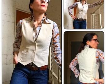 Vintage Vest Women's Corduroy 1970's