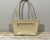 Vintage  Monsac Handbag, Leather Shoulder Bag, Tan Leather purse, Original Leather Handbag, 80s Leather Purse