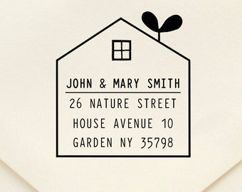 Custom Rubber Stamp - Custom Address Stamp - Return Address Stamp - Personalised Address Stamp - Gift - Zakka House