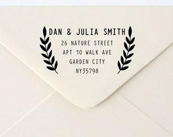 Custom Rubber Stamp - Custom Address Stamp - Return Address Stamp - Personalised Address Stamp - Gift - Vines 1