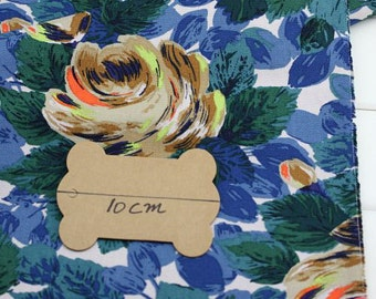 4130 - Cath Kidston Oxford Rose (Offwhite) Cotton Canvas Fabric - 57 Inch (Width) x 1/2 Yard (Length)