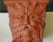 TerraCotta Green Man Planter 10 inches square II