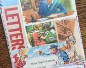 Let's Write a Letter Vintage Mail Collage, Planner and Scrapbook Kit Number 1887