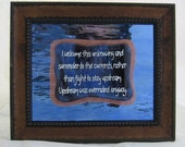 Surrender to the Currents Inspirational Wall Art