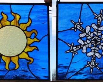 """Stained Glass Panels - """"Seasons"""" (P-58)"""
