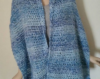 Homespun Prayer Shawl in Delft