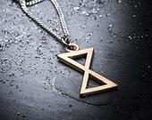 EVEN bronze pendant on a silver chain