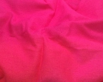 100% LINEN Fabric - HOT PINK - 1/4 Yard
