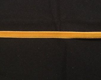Vintage Nylon VELVET Ribbon - GOLD - 2 yards-